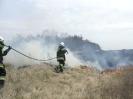 Zamość ul. Fiołkowa 10.04.2012 - pożar nasypu kolejowego.